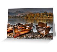 Derwentwater Boats Greeting Card