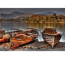 Derwentwater Boats Photographic Print