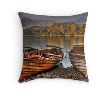 Derwentwater Boats Throw Pillow