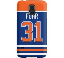 Edmonton Oilers Grant Fuhr Jersey Back Phone Case Samsung Galaxy Case/Skin