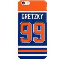 Edmonton Oilers Wayne Gretzky Jersey Back Phone Case iPhone Case/Skin