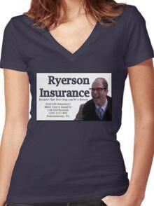 Ryerson Insurance Women's Fitted V-Neck T-Shirt