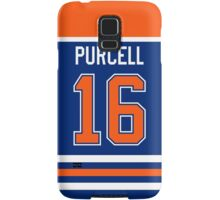 Edmonton Oilers Teddy Purcell Jersey Back Phone Case Samsung Galaxy Case/Skin