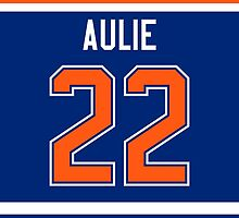 Edmonton Oilers Keith Aulie Jersey Back Phone Case by Russ Jericho