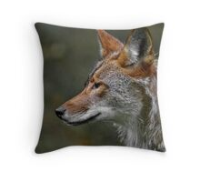 Coyote Profile Throw Pillow
