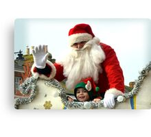 Say Hi to Santa and his little Elf......... Canvas Print