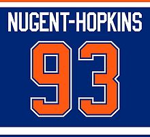 Edmonton Oilers Ryan Nugent-Hopkins Jersey Back Phone Case by Russ Jericho