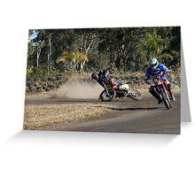 bike crash Greeting Card