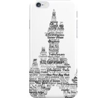 disney paris castle names iPhone Case/Skin
