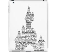 disney paris castle names iPad Case/Skin