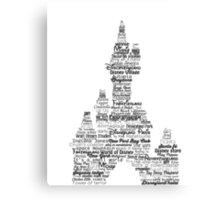 disney paris castle names Canvas Print