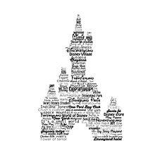 disney paris castle names Photographic Print