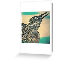 she's a bird Greeting Card