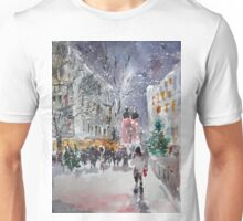 Snowing At Christmas Time Unisex T-Shirt