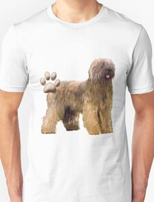 Briard and Paw Print Unisex T-Shirt