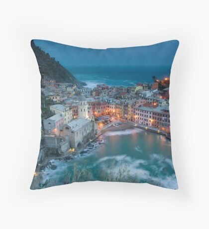 Postcard from Vernazza Throw Pillow