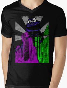 Cookie Monster Rampage! Mens V-Neck T-Shirt
