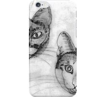 My pencil drawing of Lillan and Grenadine - all products iPhone Case/Skin