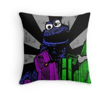 Cookie Monster Rampage! Throw Pillow