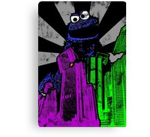 Cookie Monster Rampage! Canvas Print