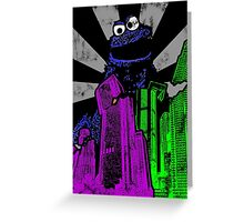 Cookie Monster Rampage! Greeting Card