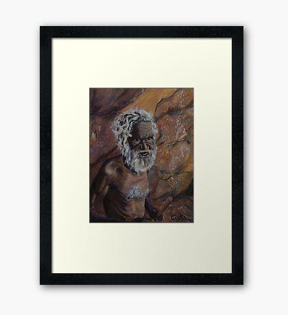Dreamtime Elder Framed Print
