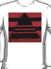 Crochet pyramid digitally manipulated T-Shirt
