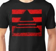Crochet pyramid digitally manipulated Unisex T-Shirt