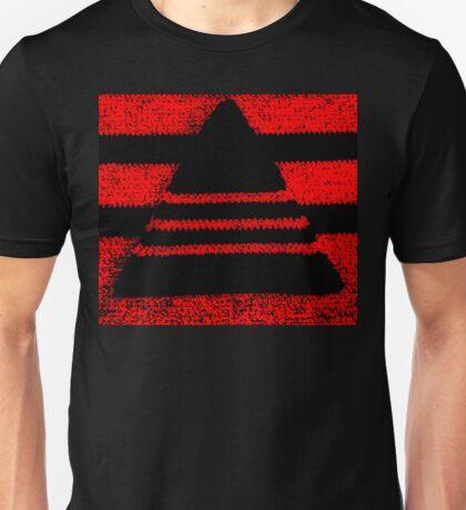 Crochet pyramid digitally manipulated Unisex T-Shirt