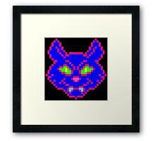 POISON CAT (BLUE) Framed Print