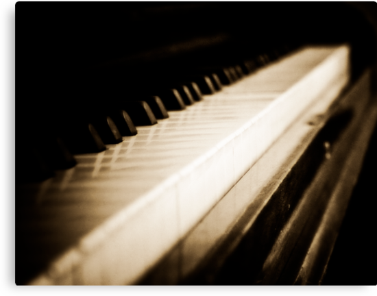 Sepia Piano Keyboard by HouseofSixCats