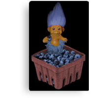 ✾◕‿◕✾ TROLL LOVING BLUEBERRIES CARD/PICTURE✾◕‿◕✾ Canvas Print