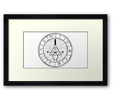 Gravity Falls Bill Cipher - Black on White Framed Print