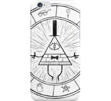 Gravity Falls Bill Cipher - Black on White iPhone Case/Skin