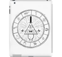 Gravity Falls Bill Cipher - Black on White iPad Case/Skin