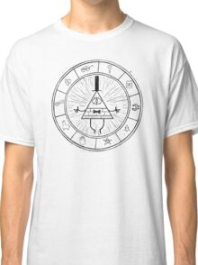 Gravity Falls Bill Cipher - Black on White Classic T-Shirt