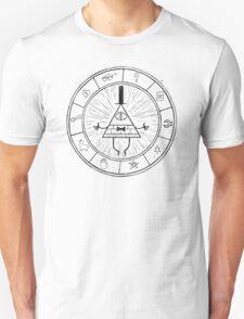 Gravity Falls Bill Cipher - Black on White T-Shirt