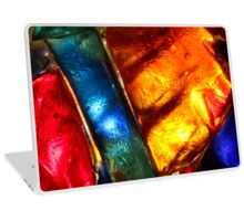 Stained glass mosaic, abstract colorful pattern Laptop Skin