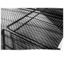 Steel construction - Black and white photograph Poster