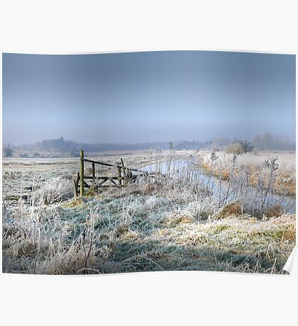 A  Frosty start to the day in North Norfolk Poster