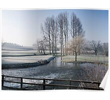 Winter by the River Wensum in Norfolk Poster