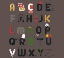 Pop culture alphabet Kids Clothes