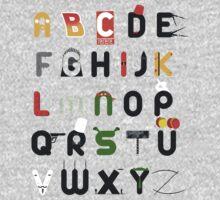 Pop culture alphabet Kids Tee
