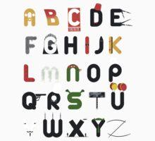 Pop culture alphabet Baby Tee