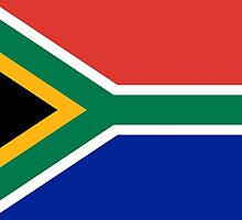 National flag of the Republic of South Africa Authentic version by Bruiserstang