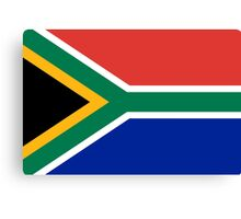 National flag of the Republic of South Africa Authentic version Canvas Print