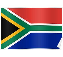 National flag of the Republic of South Africa Authentic version Poster