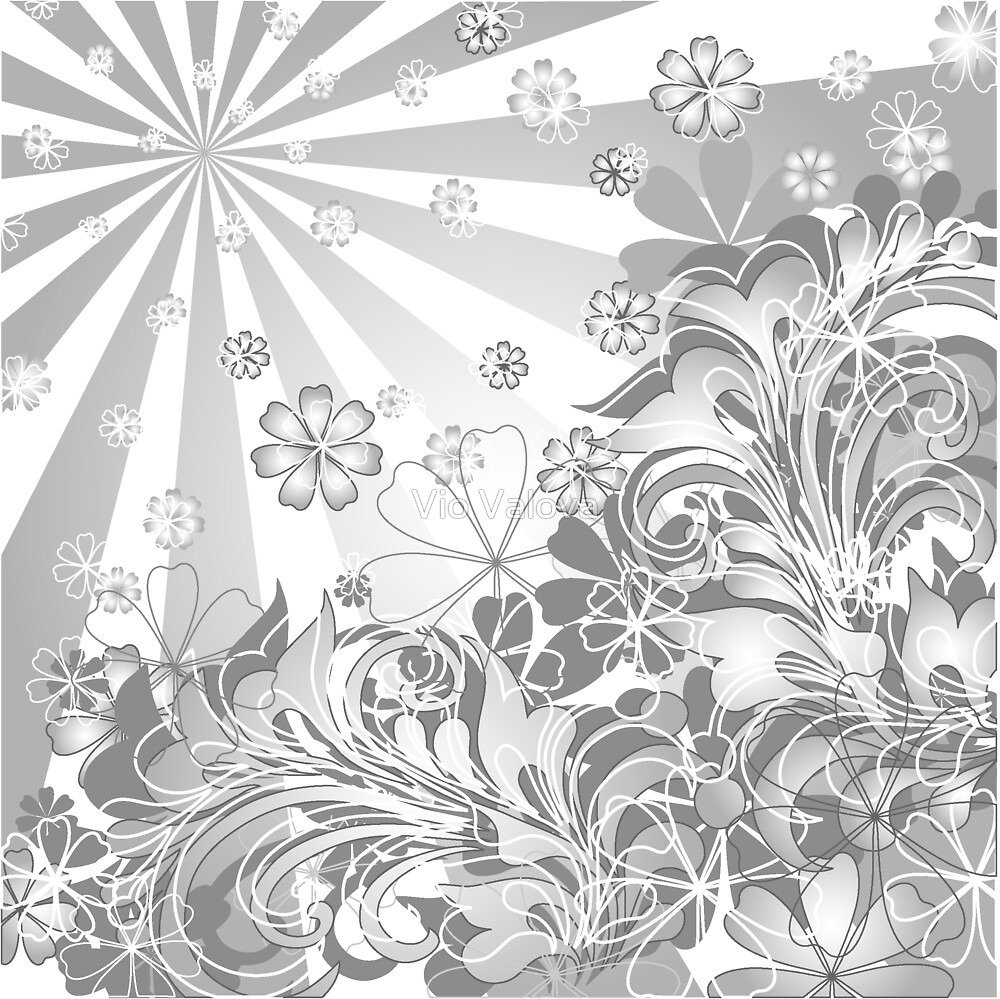 monochrome flowers by VioDeSign