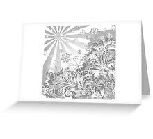 monochrome flowers Greeting Card