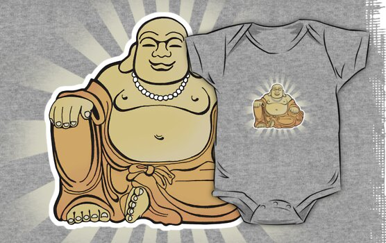 Happy Buddha by rubyred